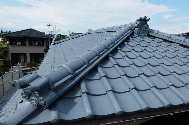 瓦屋根 塗装完了